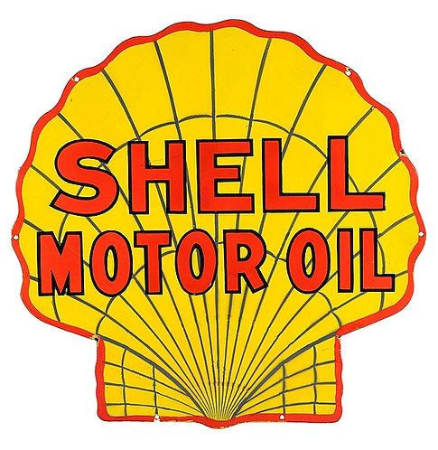 Shell Motor Oil metal sign