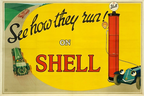 See How They Run! On Shell sign