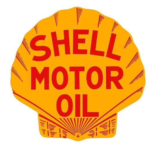 Early Shell Motor Oil sign