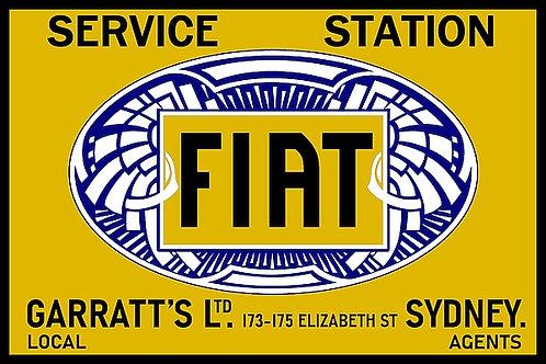 Fiat Service (Sydney) metal sign