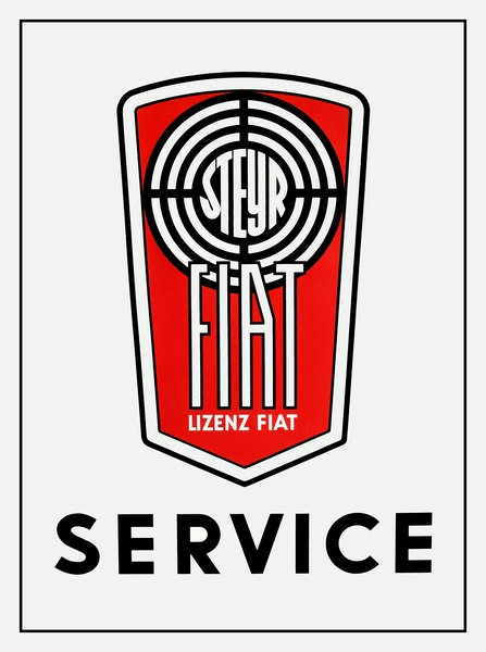 Fiat Service Sign