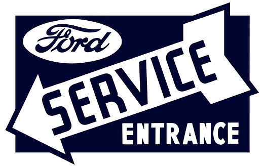 Ford Service Entrance sign