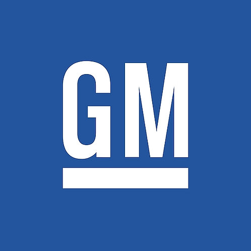 General Motors metal sign