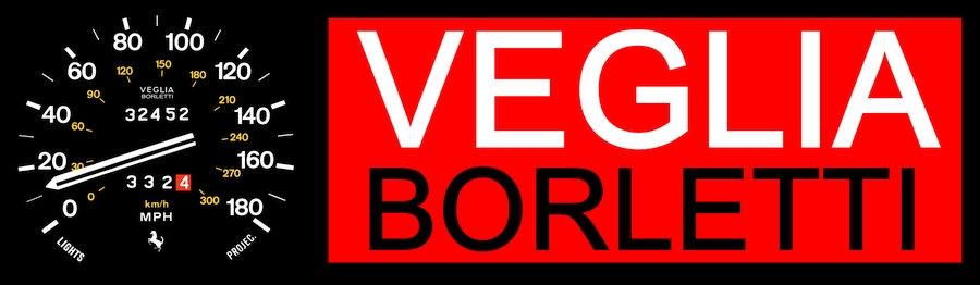Veglia Borletti sign - 1970s fantasy metal sign