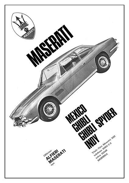 Maserati Advert A3 Sign