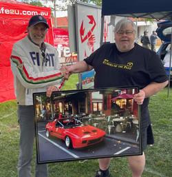 Tony with Peter Bartold at Auto Italia