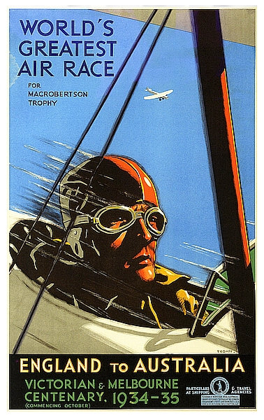 World's Greatest Air Race - England to Australia sign