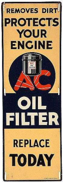 AC Oil Filter metal sign