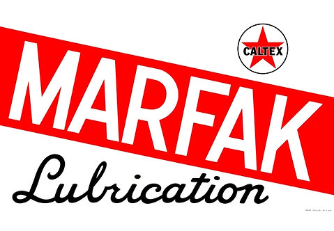 Marfak Lubrication sign