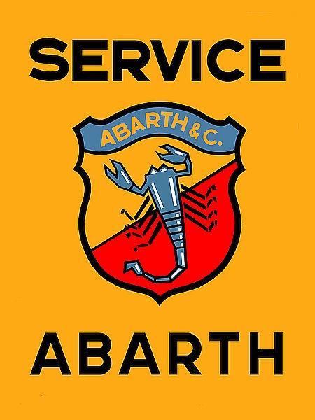 Abarth Service metal sign