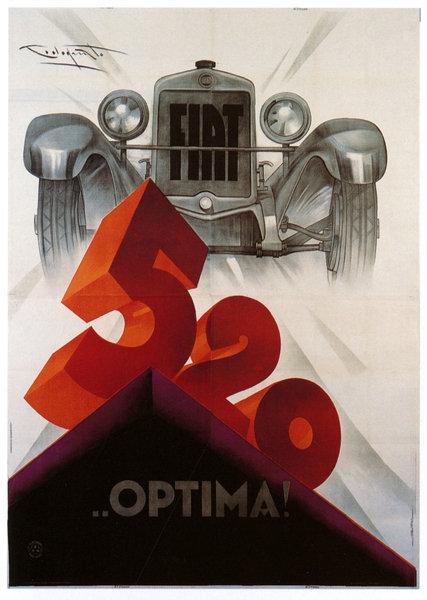 FIAT 520 sign