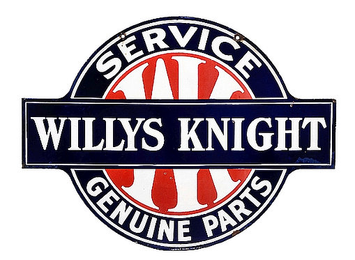 Willys Knight Service metal sign