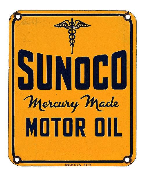 Sunoco Motor Oil metal sign