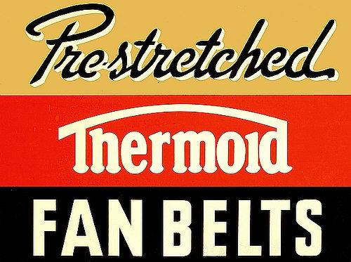 Thermoid Fan Belts metal sign