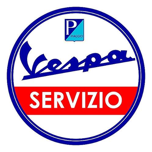 Vespa Servizio metal sign
