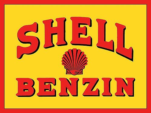 Shell Benzin metal sign