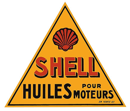Early Shell sign in French for Canadian market