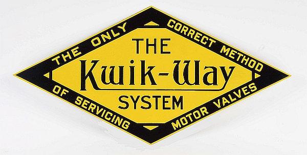 The Kwik-Way System metal sign