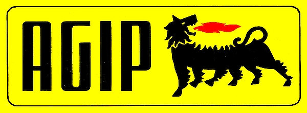 Early AGIP oil metal sign