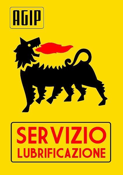 Agip Servizio Lubrificazione Sign