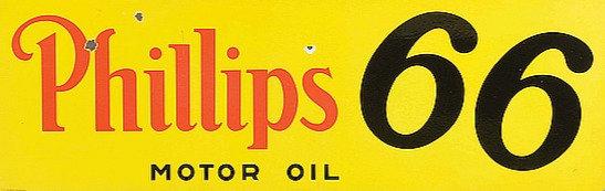 Phillips 66 Motor Oil metal sign