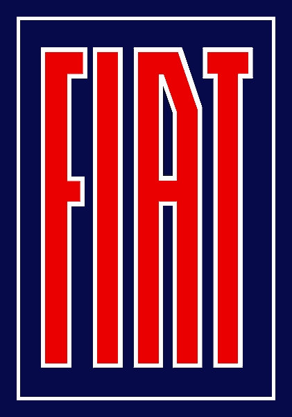 Fiat metal sign