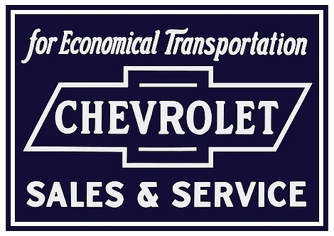 Chevrolet Sales & Service A3 Sign