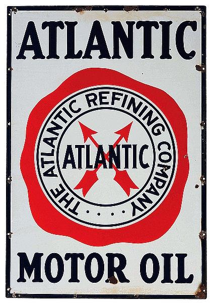 Atlantic Motor Oil metal sign