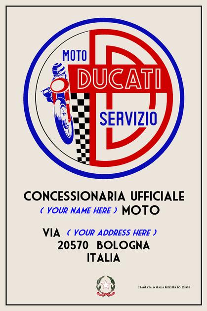 Ducati Customisable Sign
