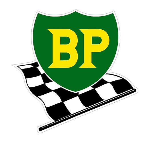 BP Chequered Flag sign