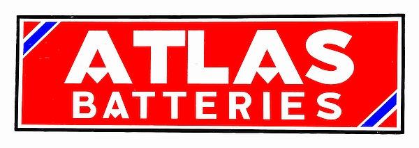 Atlas Batteries metal sign