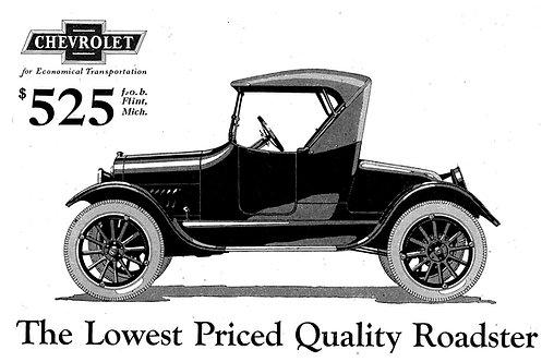 Chevrolet Roadster advert circa 1929