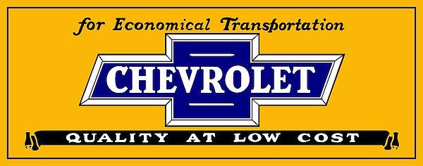 Chevrolet Sales metal sign