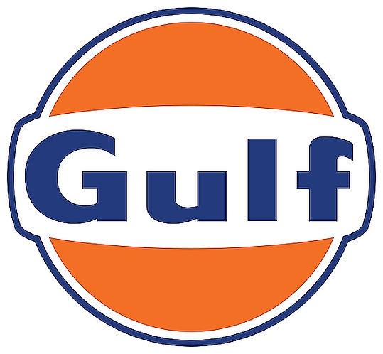 Gulf metal sign