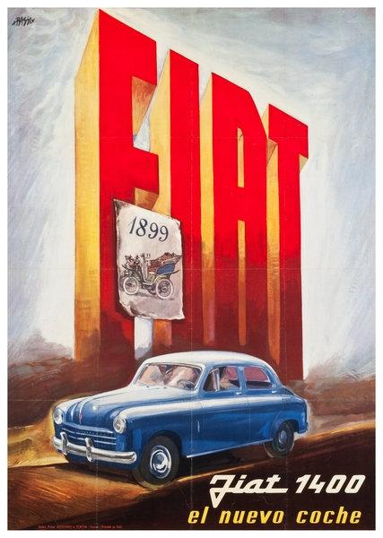 Fiat 1400 1950's advert