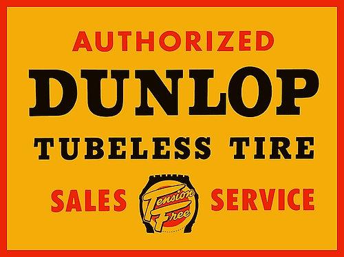 Dunlop Tubeless Tire metal sign