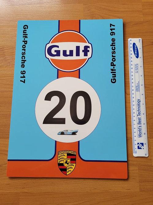 Gulf-Porsche 917 - 1970 Le Mans Livery - A3 Sign