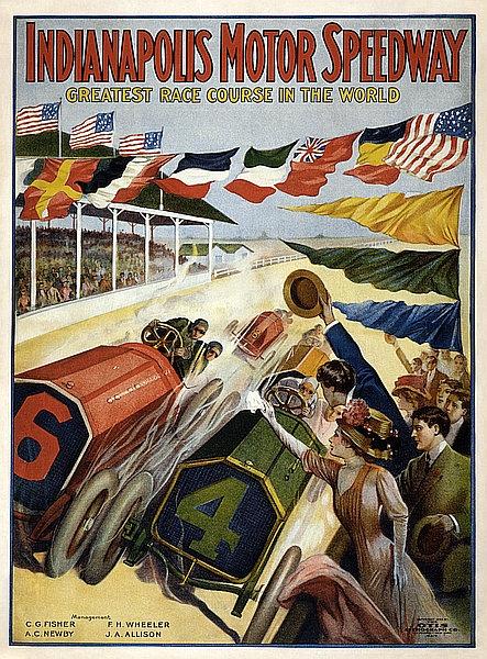 Indianapolis Motor Speedway metal sign