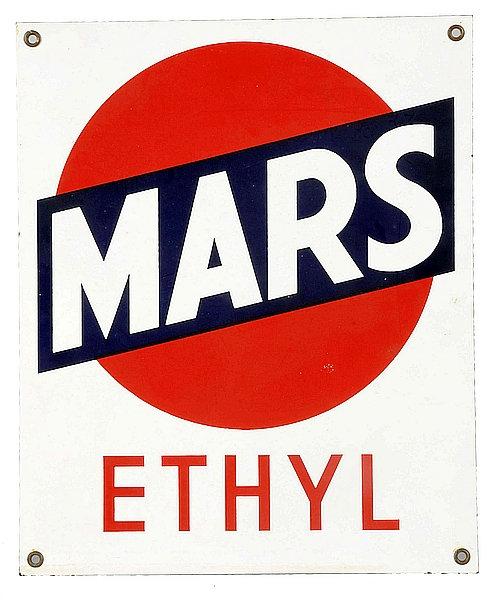 Mars Ethyl metal sign