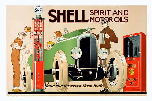 Shell Spirit and Motor Oils sign