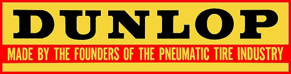 Early Dunlop sign