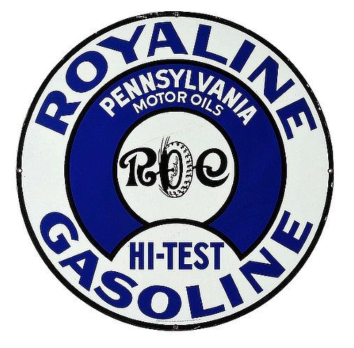 Royaline Gasoline metal sign