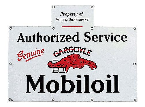 Gargoyle Mobiloil Service metal sign