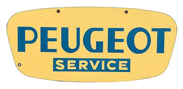 Peugeot Service metal sign