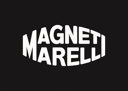 Magneti Marelli (white on black) metal sign