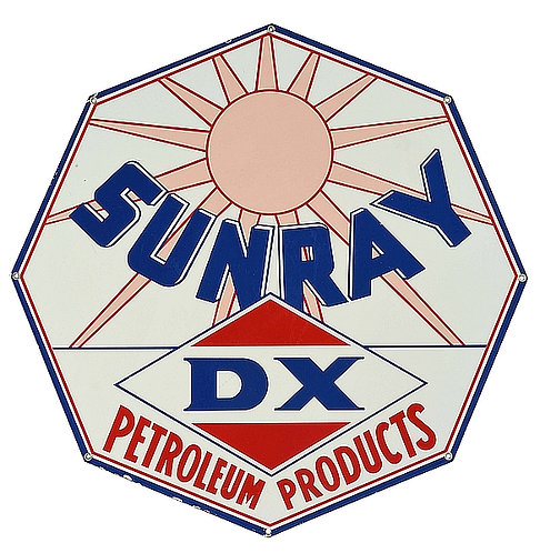 Sunray DX Petroleum Products metal sign