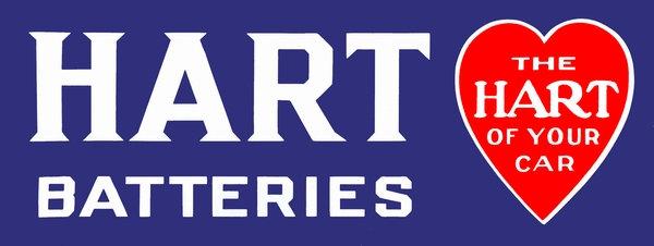 Hart Batteries sign