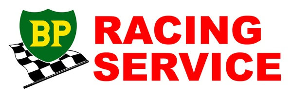 BP Racing Service Sticker