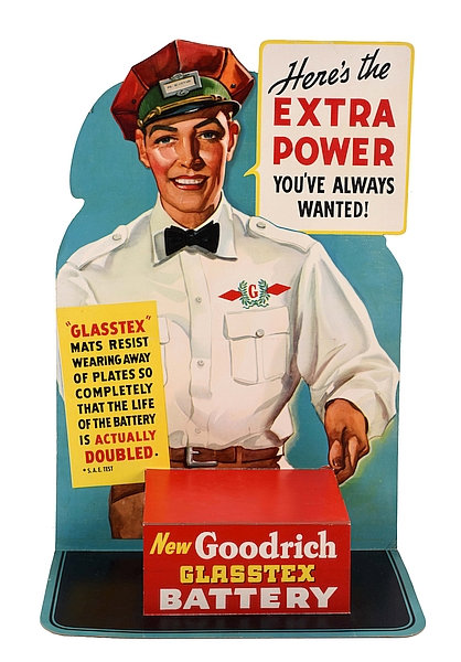 Goodrich battery sign c1950s