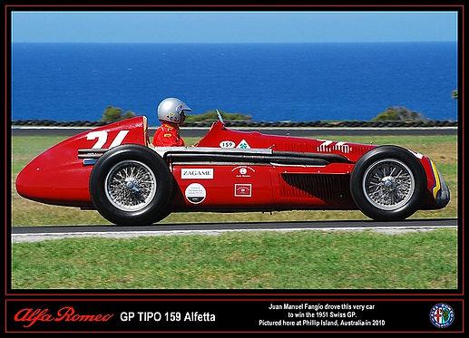 Alfa Romeo Alfetta GP TIPO 159 Photo A3 Sign